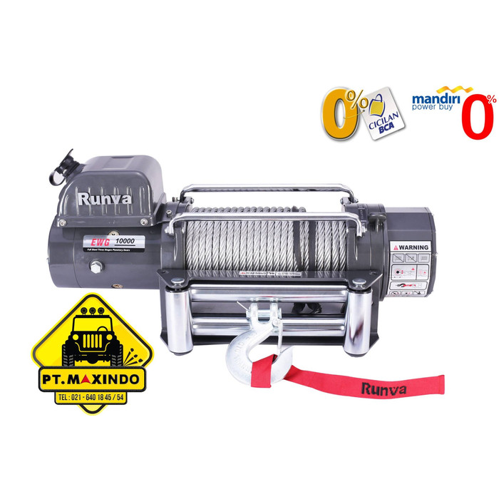 harga Runva electric winch 10.9g / ewg-10000 kapasitas 45 ton Tokopedia.com