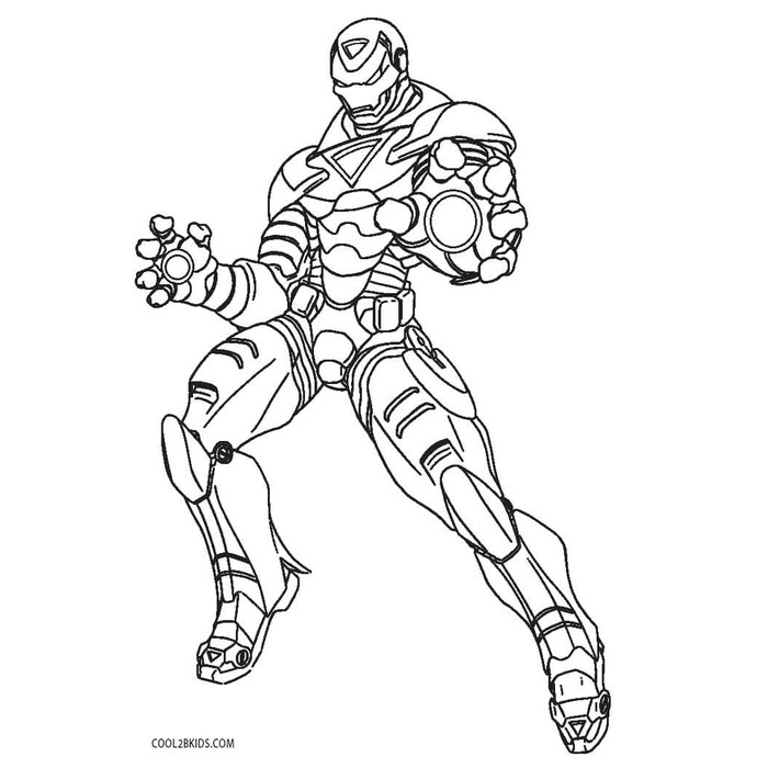 8200 Gambar Iron Man Untuk Mewarnai Terbaik