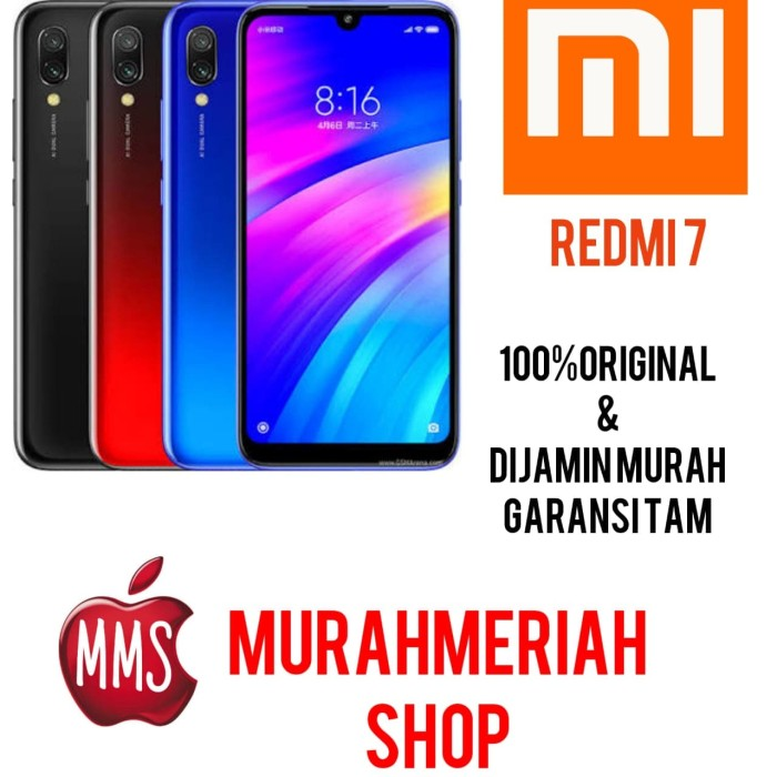 harga Xiaomi redmi 7 2/16 garansi resmi tam - hitamtemperfull Tokopedia.com