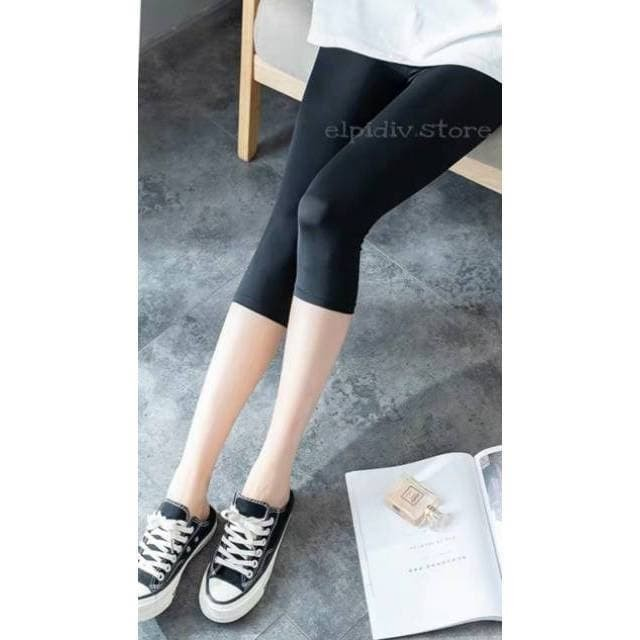 Jual Celana Legging 3 4 Bahan Spandex Licin Diskon Ramadhan Jakarta Barat Lavina Olstore Tokopedia