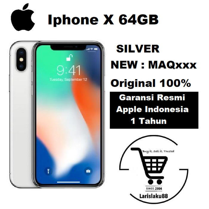 harga [ hot deals ] iphone x 64gb silver garansi resmi tam ( ibox ) 1 tahun Tokopedia.com