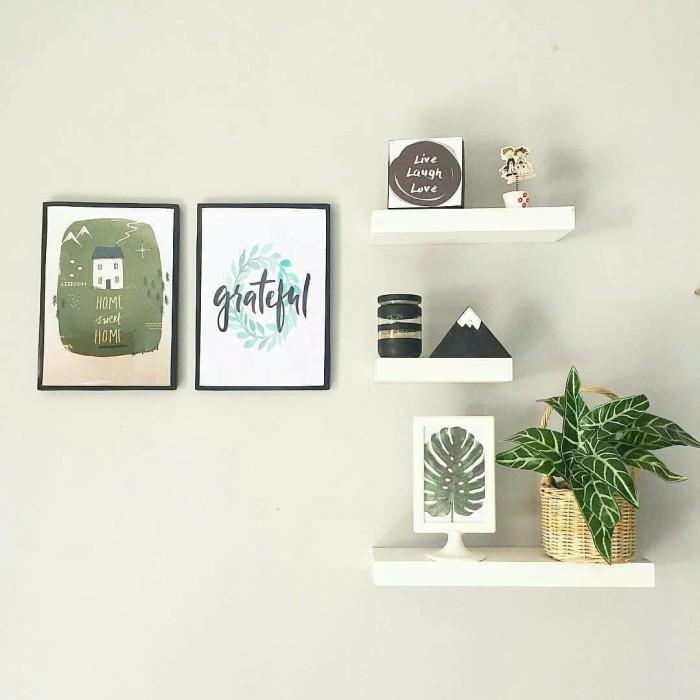 Jual Rak Dinding Minimalis Ruang Tamu 100 Kayu Solid 3pcs Best Seller Kab Bogor Tokyoga Tokopedia