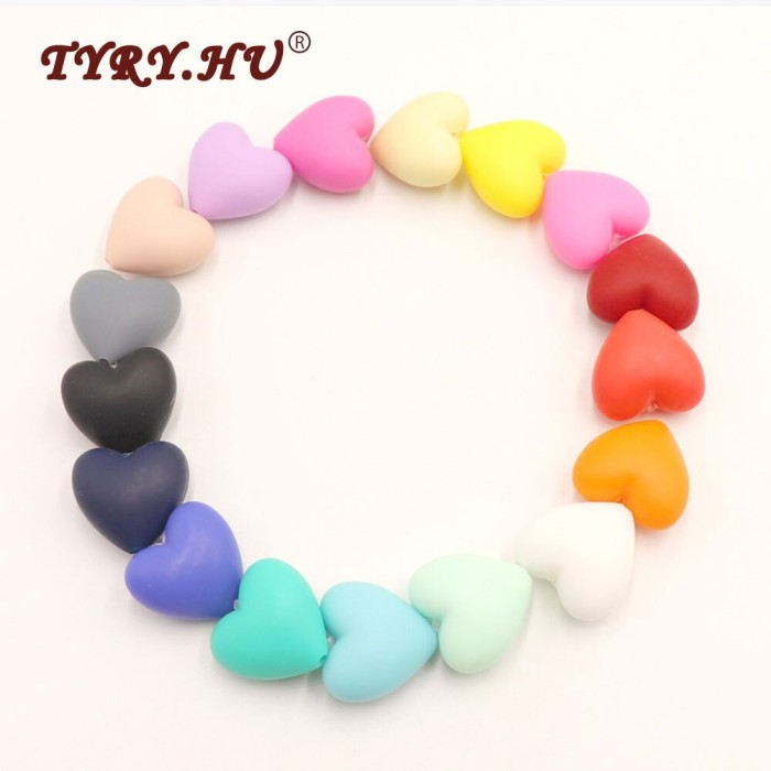 50Pcs Cube Square Silicone Teething Beads Baby Chewable Necklace Teether Making