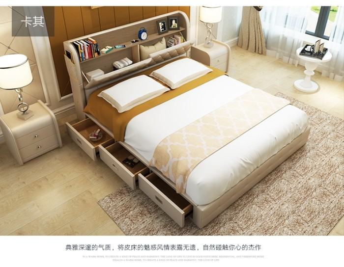 Bed Frame With Storages Drawers Modern