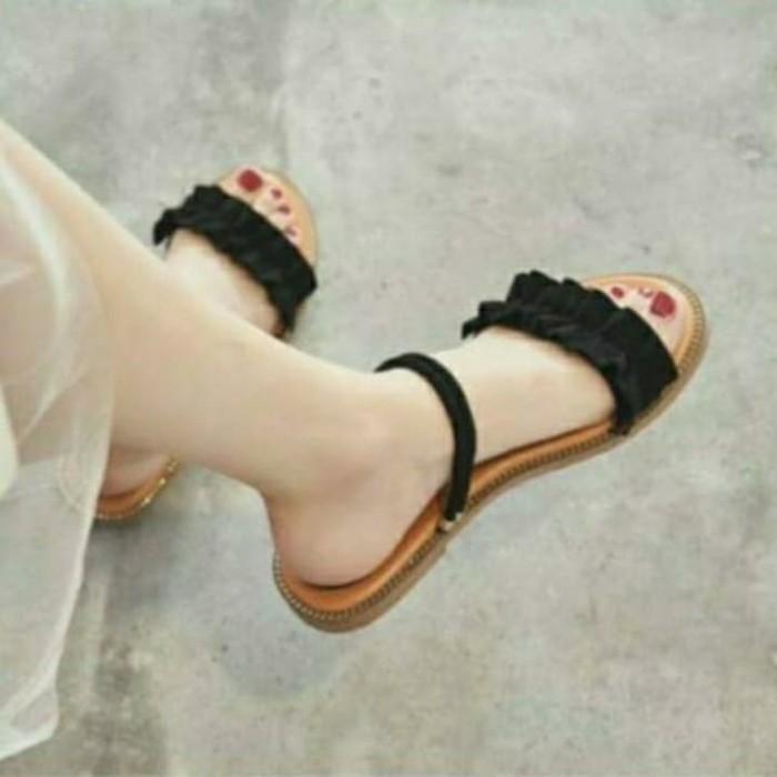 Foto Produk ribbon flat tali - Hitam, 36 dari efraim shoes