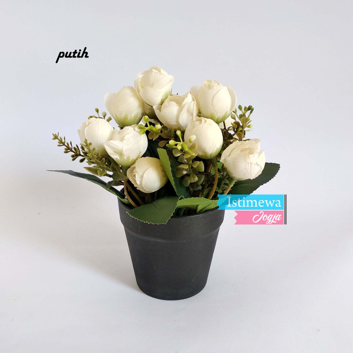 Jual Vas Mini Hitam Cantik Bunga Tulip Plastik Murah Vb21 Putih Kota Yogyakarta Istimewajogja Tokopedia