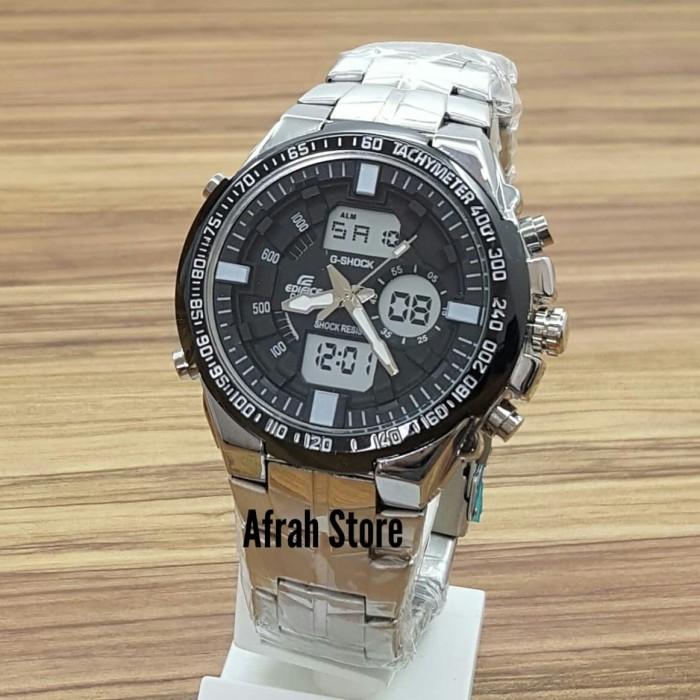 Foto Produk Jam Tangan Pria Casio Edifice New Model Rantai Silver Kw Super dari afrah store