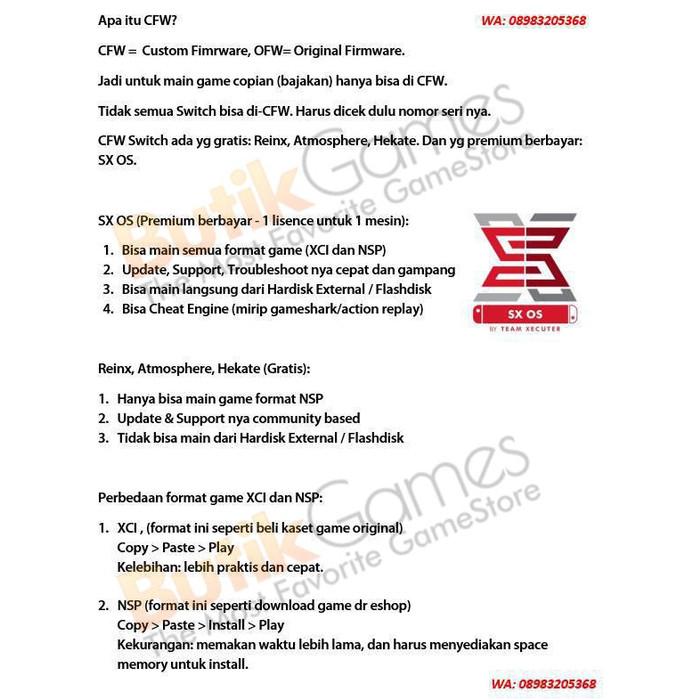 Jual Nintendo Switch Console CFW 256GB SX OS SX PRO - SX PRO - Jakarta  Pusat - Butikgames   Tokopedia