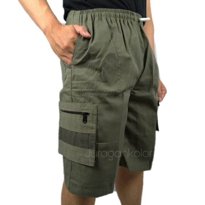 Foto Produk Celana Pendek Cargo 3/4 Polos -M1TRA.STD dari JuraganKolor