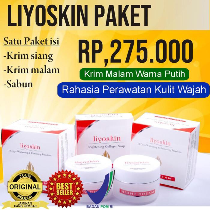 Foto Produk Liyoskin Cream - Paket Pemutih,Pencerah,Penghilang Flek Wajah BPOM Ori dari Tasik Store