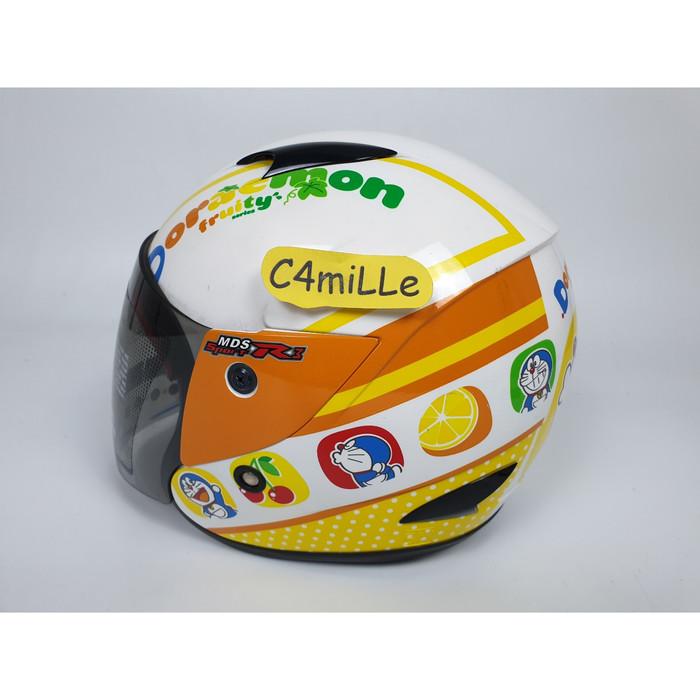 harga Helm mds r3 jr junior doraemon fruity white orange half face anak Tokopedia.com