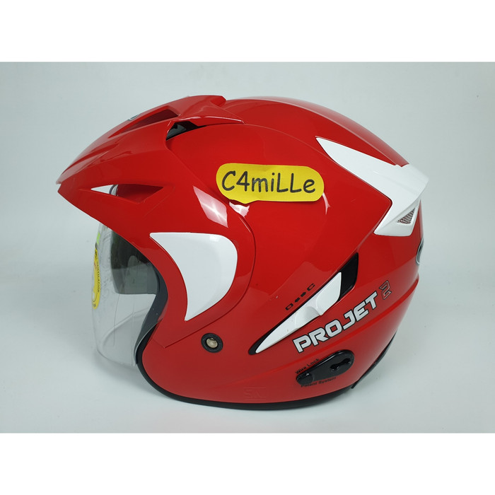 harga Helm mds project double visor merah ferrari Tokopedia.com