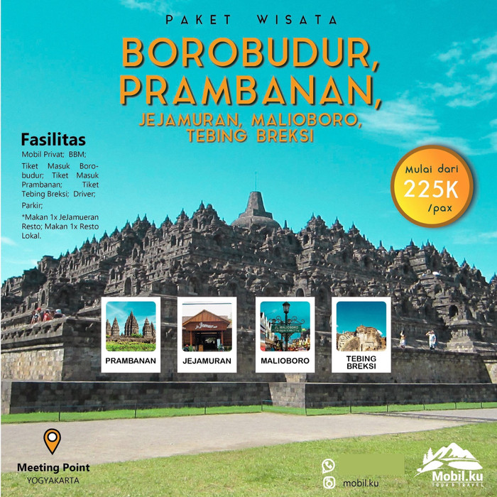 Wisata Candi Borobudur Prambanan Tour Outbound Borobudur