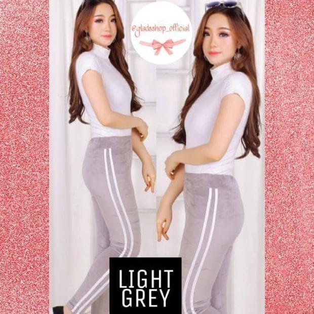 Jual Celana Legging Velvet Stripe Import Legging Bludru Suede Fashion Jakarta Pusat Khei Shop Tokopedia