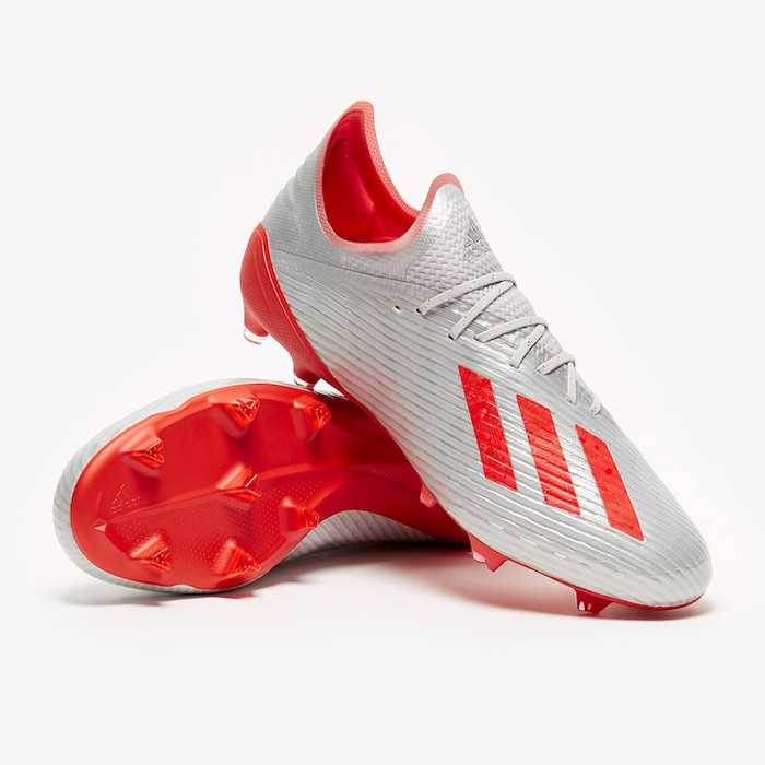 Jual Sepatu Bola Adidas X 19 1 Fg Silver Metallic Hi Res Red