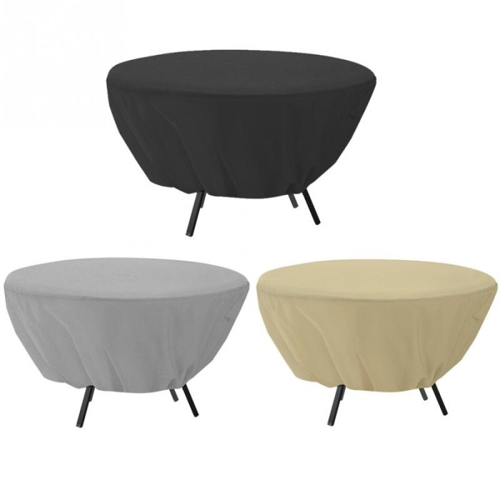 Jual Round Table Dust Cover Outdoor