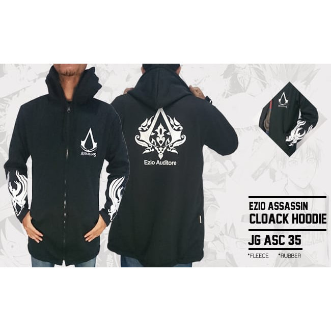 Jual Jaket Jubah Ezio Assassins Creed Hoodie Jg Asc 35 Kota