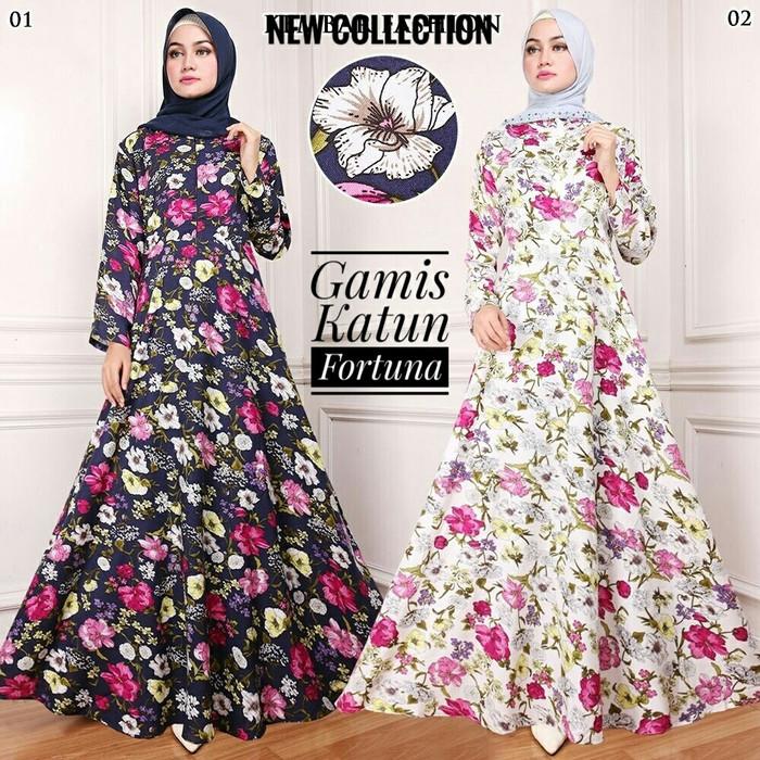 Jual Gamis Katun Abaya Syar I Motif Bunga Floral Bahan Adem Jakarta Utara Pernakpernik Tokopedia