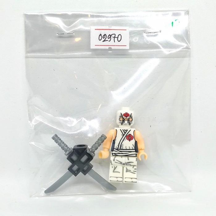 Lego Minifig Custom Gi Joe Storm Shadow w// accessories