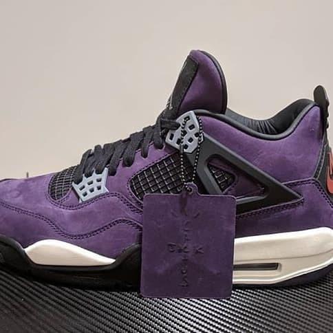 Jual Travis Scott X Air Jordan 4 Retro Purple Kota Kediri