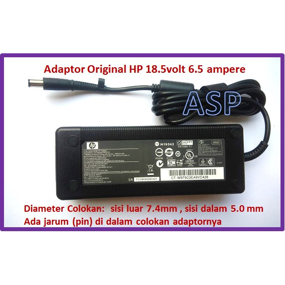 FOR HP EliteBook 8530w 8560w New AC Adapter Battery Charger 120W 18.5V 6.5A