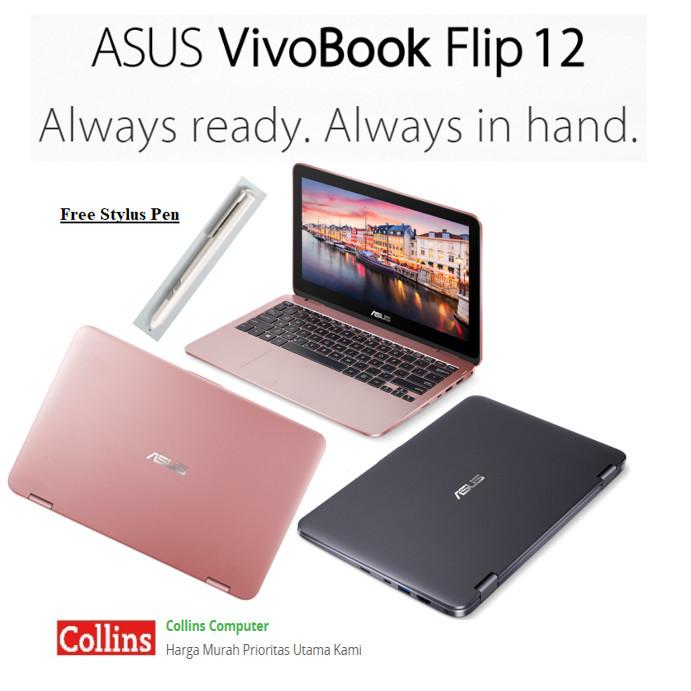 Jual Asus Vivobook Flip 12 Tp203nah Intel N3350 4gb 1tb 11 6 W10
