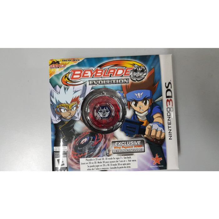 harga Cartridge 3ds beyblade evolution collector's edition with wing pegasus Tokopedia.com