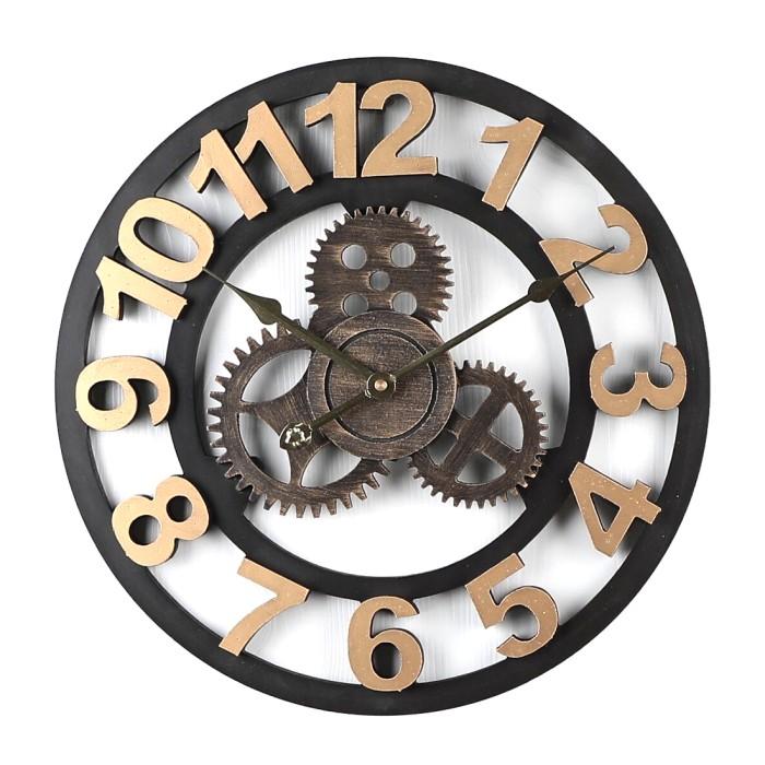 Jual New 40cm Large Retro Slient Wall Clock Vintage Home Decor Quartz Kota Surabaya Evosy Store Tokopedia