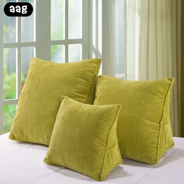 Jual Aag Solid Color Reading Backrest Cushion Wedge Pillow Thick Corduroy Kota Surabaya Luxury Store Tokopedia