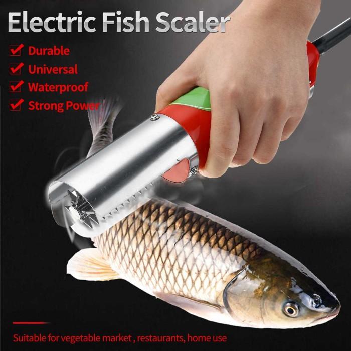 Electric Waterproof Fish Scales Stainless Steel Clean Remover Scraper Blue