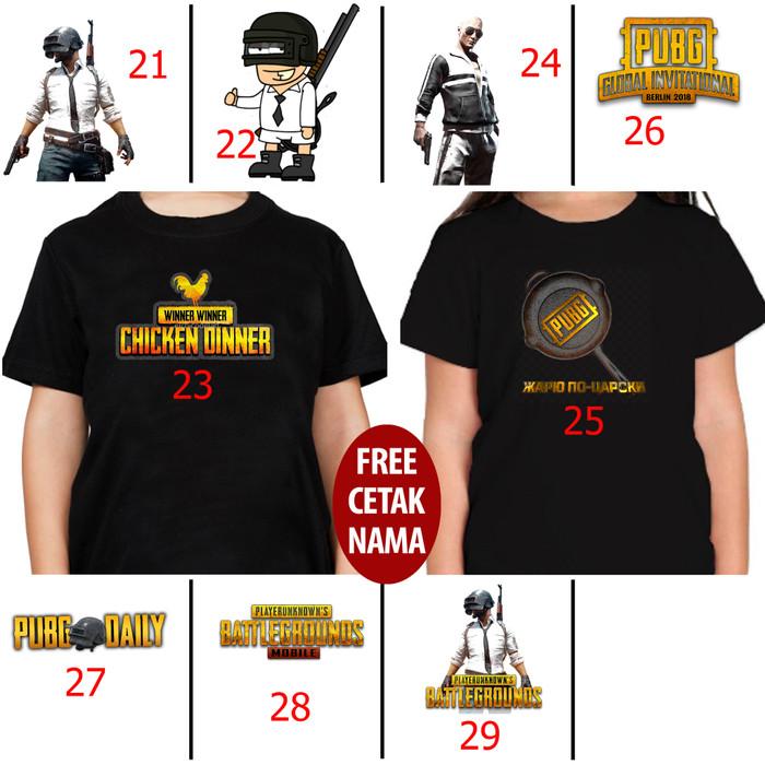 Foto Produk KAOS BAJU ANAK ANAK KIDS GAME PUBG 21 -29 FREE NAMA dari Cuci Gudang X-Plus