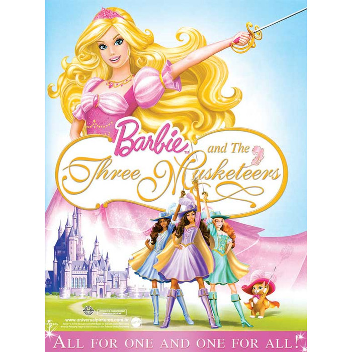 Jual Film Dvd Barbie and the Three Musketeers Text ...
