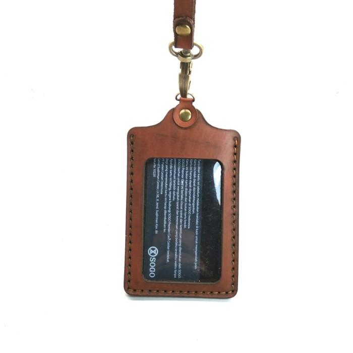 Foto Produk Name Tag - ID Card Kulit - Model L.2 - Hitam dari Fruna Phonsel