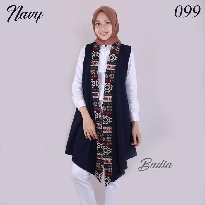 Jual Outer Batik Songket Wanita Baju Cardigan Outer Panjang Lengan Pendek Brown Kota Tangerang Selatan Badia Store Tokopedia