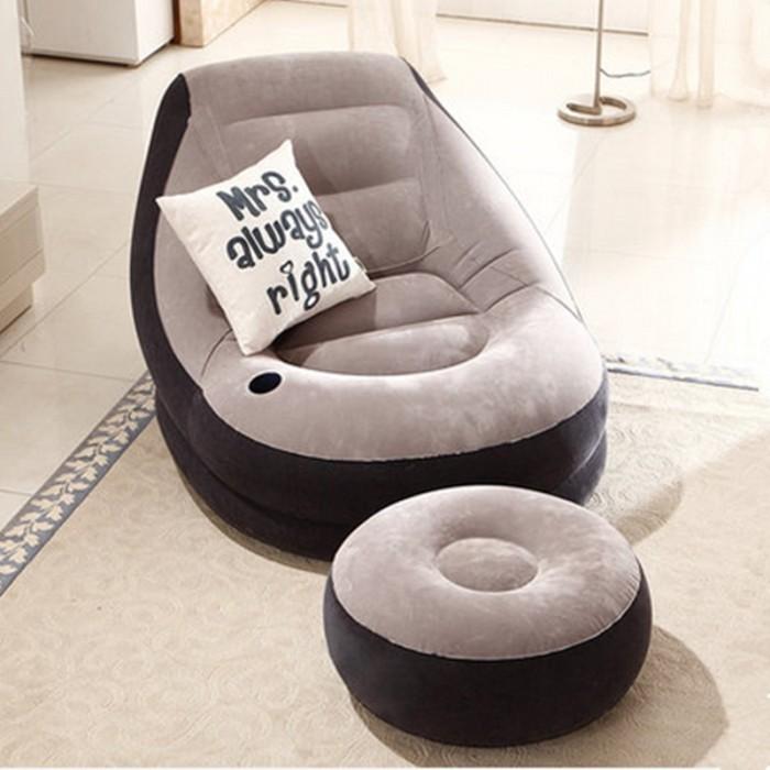 Grey Living Room Bean Bag