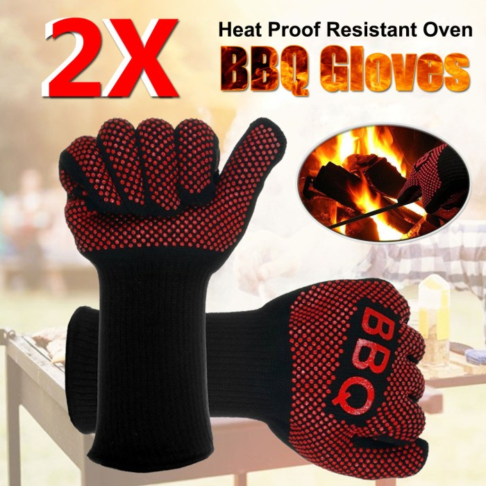 Kitchen Cooking Gloves Heat Resistant Oven Mitts Kitchen Baking Heatproof Tools