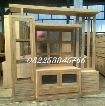 Jual Furniture Jepara Bufet Tv Rak Boneka Sekat Ruang Tamu Model Minimalis Kota Surabaya Meubel Furnicraft Tokopedia