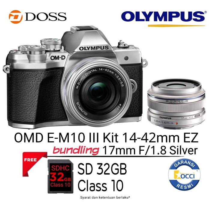 harga Olympus omd e-m10 mark iii kit 14-42mm ez + zuiko 17mm f/1.8 Tokopedia.com