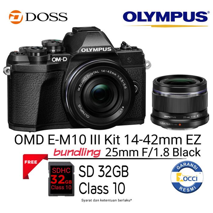 harga Olympus omd e-m10 mark iii kit 14-42mm ez + m.zuiko 25mm f/1.8 Tokopedia.com