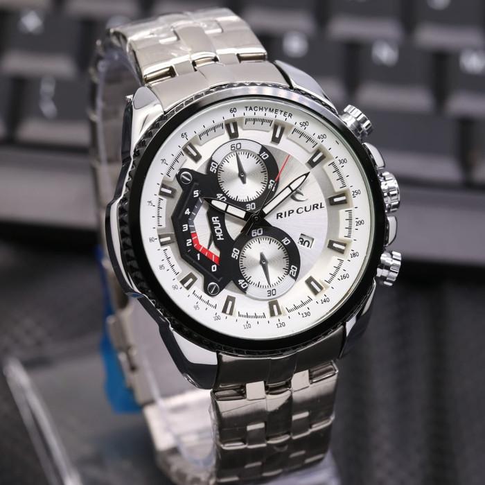 harga Jam tangan pria / cowok ripcurl chronomaster rantai silver list black Tokopedia.com