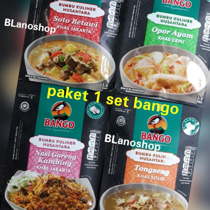 Jual Bumbu Instan Bango Paket Dapat 4 Bumbu Kuliner Nusantara Lengkap Kab Bogor Blanoshop Tokopedia