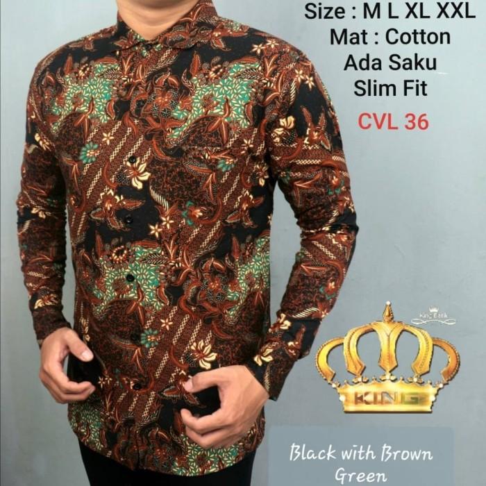 harga Baju koko batik pria slimfit modern lebaran limited ck 03 Tokopedia.com