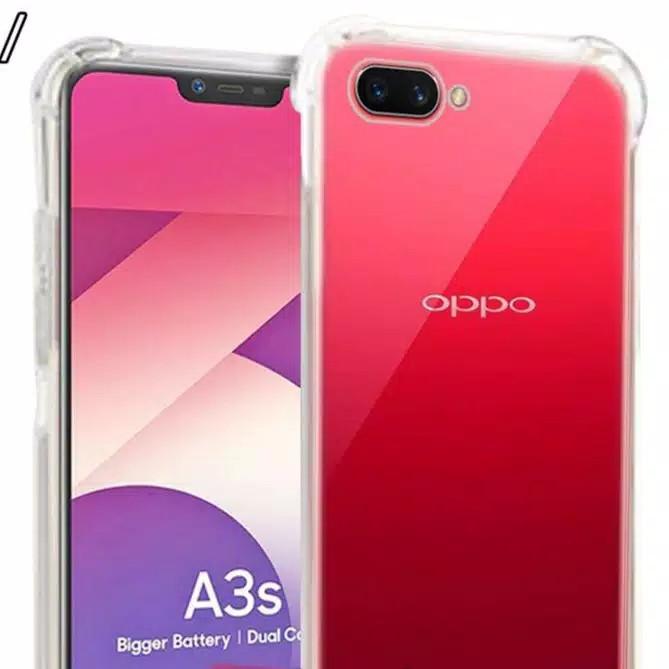 Foto Produk Anticrack Oppo A3S Case Softcase Jelly Bening Lembut Silikon Transpara dari De Hits