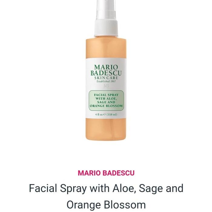 Jual Mario Badescu Facial Spray With Aloe Sage And Orange Blossom 4oz Jakarta Barat Hebe Beauty Tokopedia
