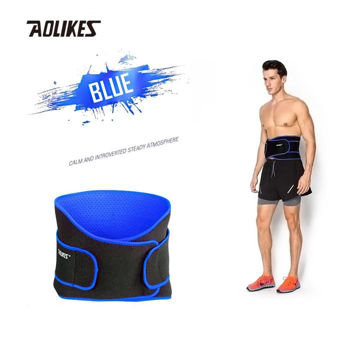 harga Aolikes 7995 waist support belt weight lifting bodybuilding black blue - xl Tokopedia.com