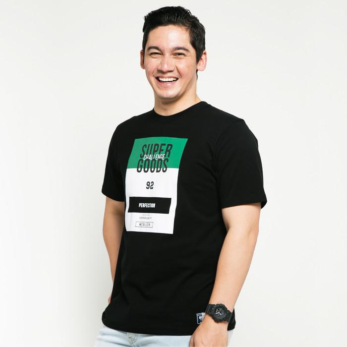 Foto Produk METALIZER 1034 T-Shirt Casual Pria Katun Premium Motif Hitam - Hitam, M dari teetimeid