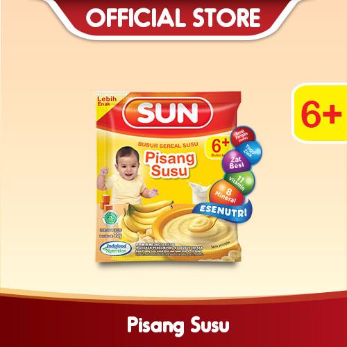 harga Sun bubur sereal susu pisang sachet 20 gr x 10 pcs/rcg Tokopedia.com