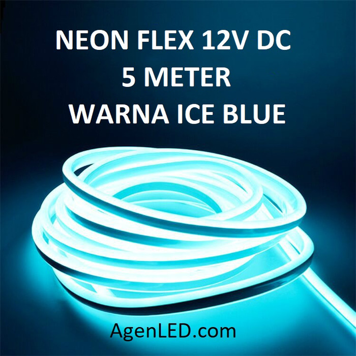 Foto Produk Lampu Neon Flex LED 12V DC neonflex 12 v volt sign 12volt ICE BLUE ICY dari AgenLED