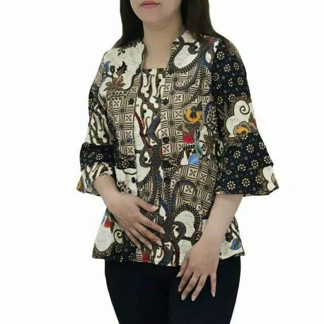Jual 88kbm Baju Batik Kebaya Wanita Lengan Panjang Terbaru U Atasan Kerja Jakarta Barat Rumah Batik Wanita Tokopedia