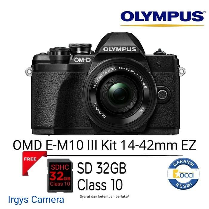 harga Olympus omd em-10 mark iii black kit lens 14-42 mm ez (free sdhc 32gb) Tokopedia.com
